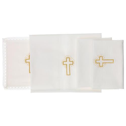 Linge d'autel croix 100% coton 2