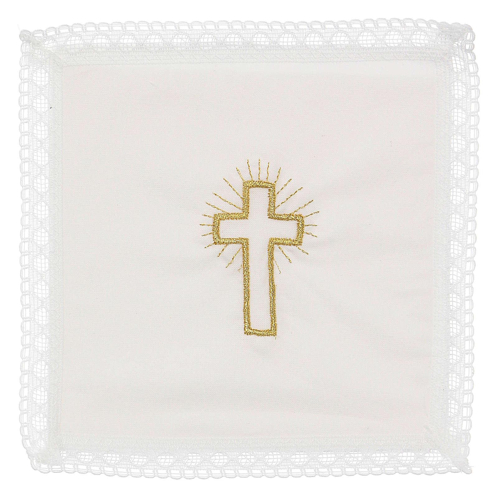 Servizio da messa croce 100% cotone 4