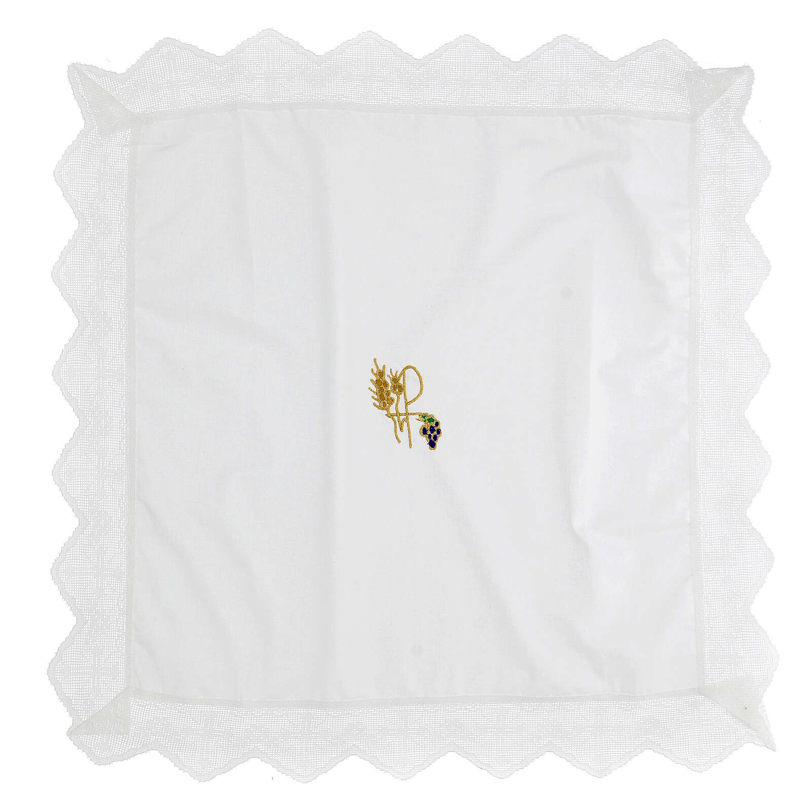 Altar linen set XP with grape and wheat 100% cotton 4
