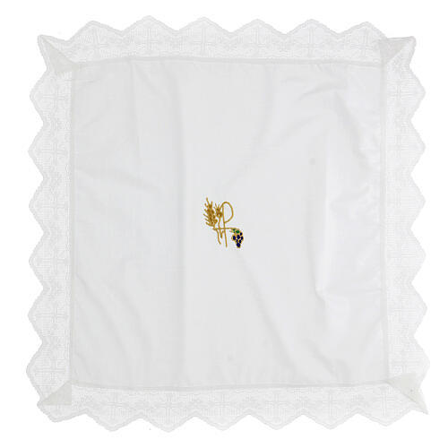Altar linen set XP with grape and wheat 100% cotton 3