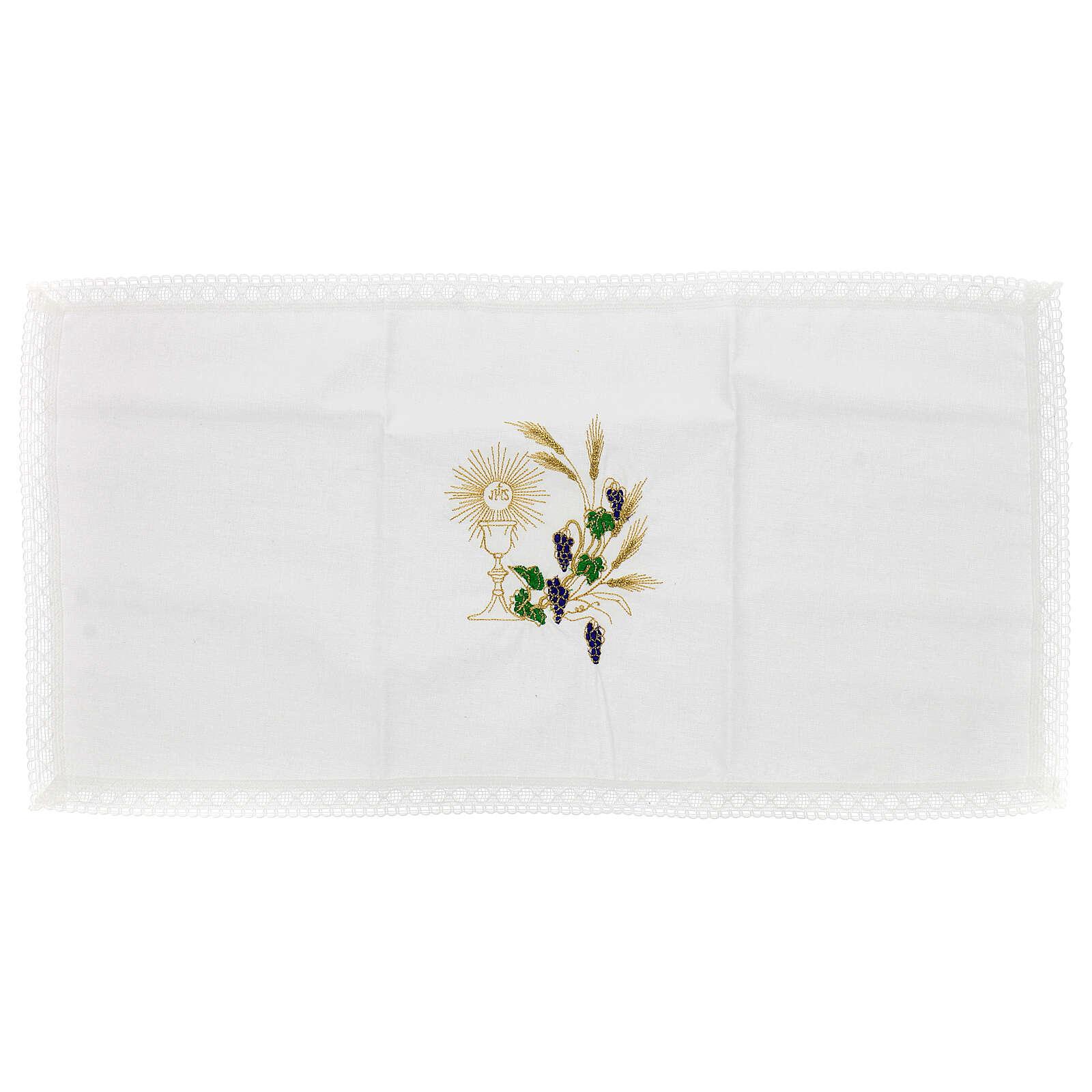 Altar linen set chalice and grape 100% cotton 4