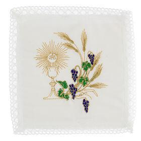Altar linen set chalice and grape 100% cotton s1