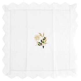 Altar linen set chalice and grape 100% cotton s2