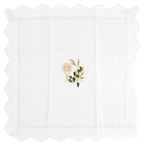 Altar linen set chalice and grape 100% cotton 2