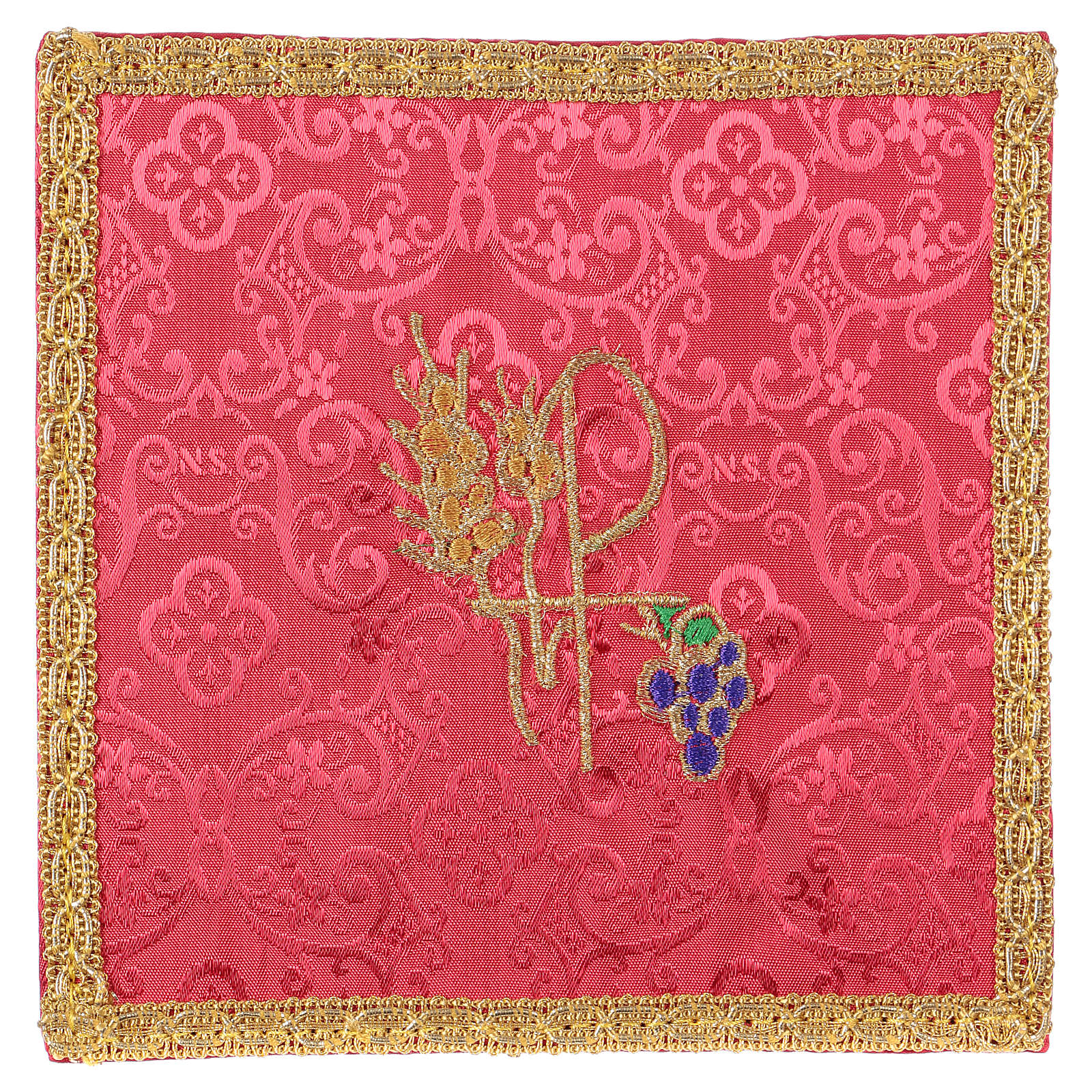 Pale Chi-Rho épi et raisin jacquard rouge 4