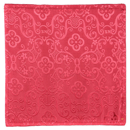 Chi-Rho chalice pall red jacquard 3
