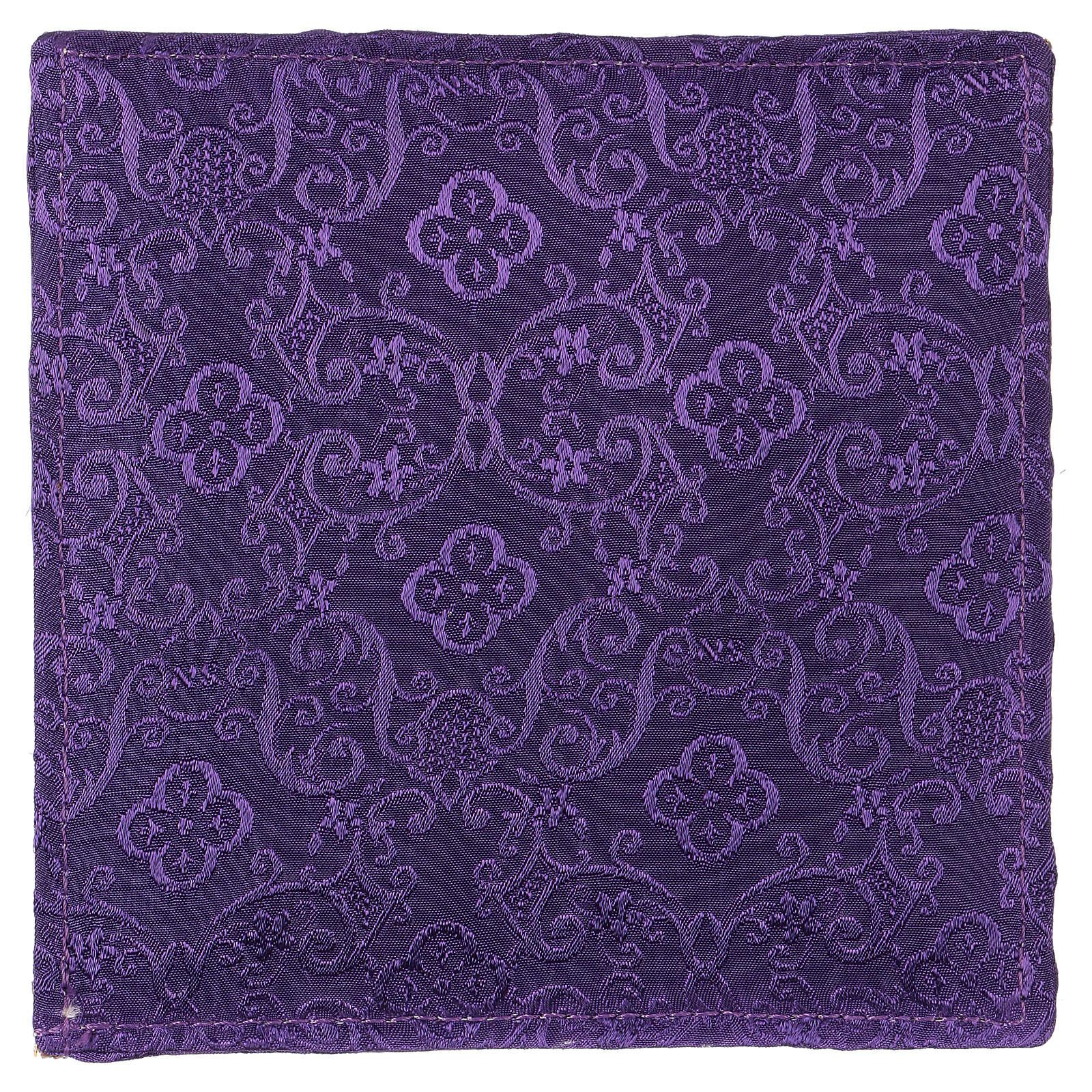 Pale Chi-Rho raisin et épi jacquard violet 4