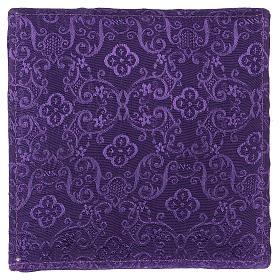 Chi-Rho chalice pall purple jacquard s3