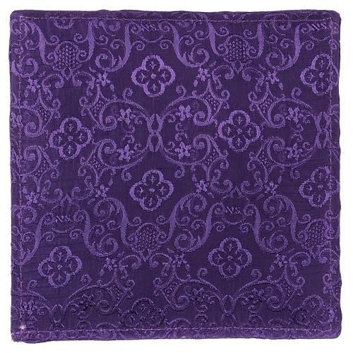 Chi-Rho chalice pall purple jacquard 3