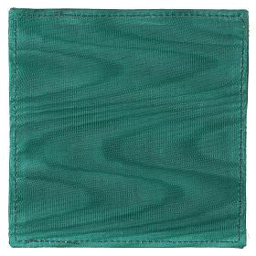 Pala rígida para cálice tecido verde Chi-Rho trigo e uva s3