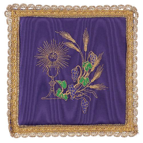 Palia cubre cáliz raso violeta con cáliz y uva 1