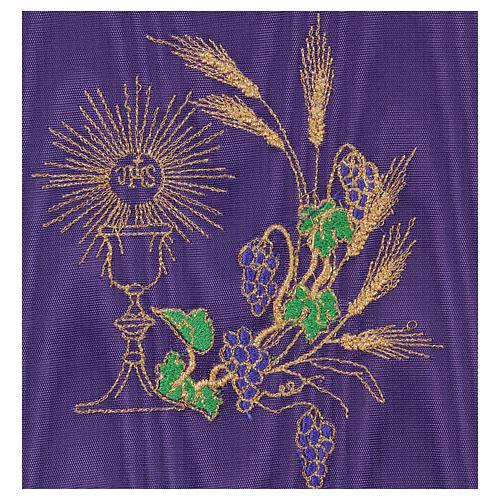 Palia cubre cáliz raso violeta con cáliz y uva 2