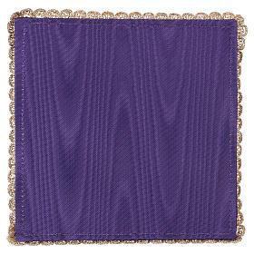 Palla copricalice raso viola con calice e uva s3