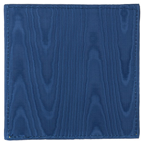Pale pour calice satin bleu avec croix 3