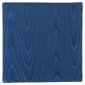 Palla copricalice raso blu con croce s3