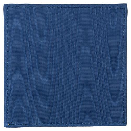 Palla copricalice raso blu con croce 3