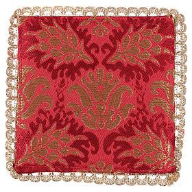Palia cubre cáliz espigas tejido brocado rojo s2