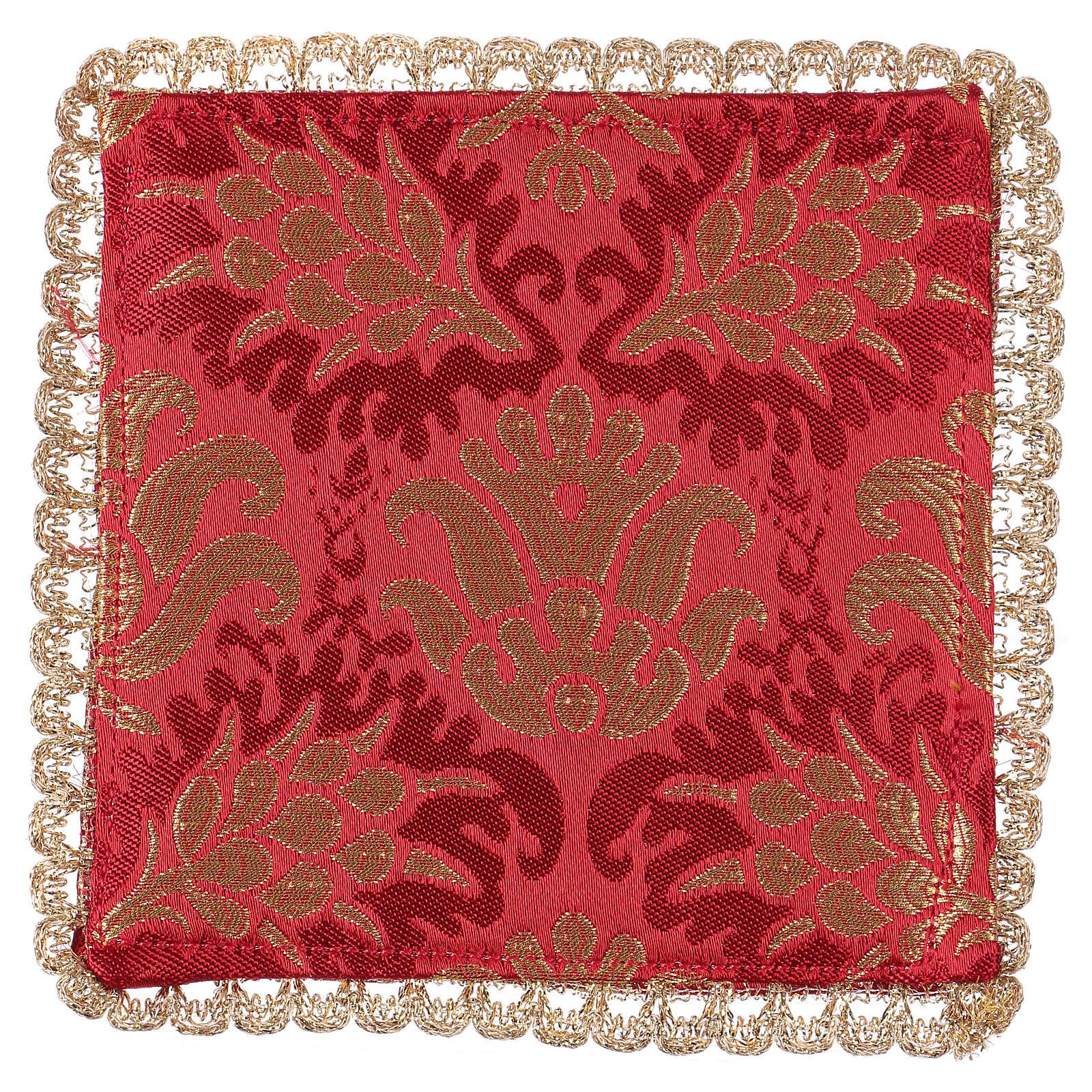 Palla copricalice spighe tessuto broccato rosso 4