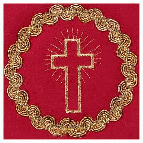 Cubre cáliz cruz tejido rojo s2