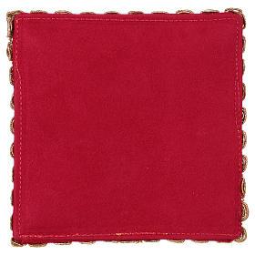 Copricalice croce tessuto fioccato rosso s3