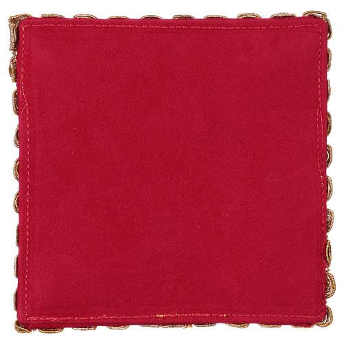 Copricalice croce tessuto fioccato rosso 3