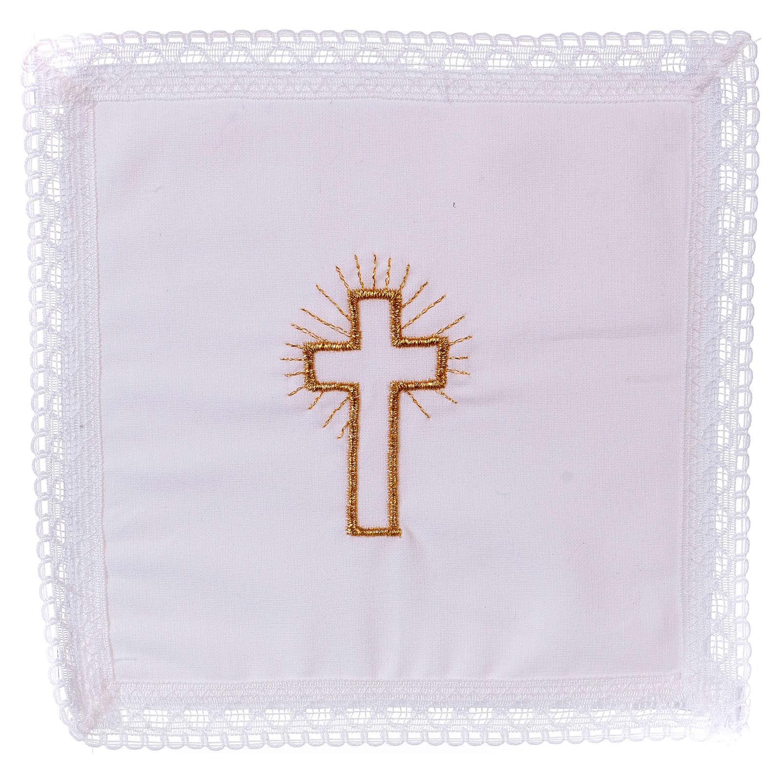 Pale croix dorée sur tissu 100% coton 4