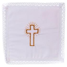 Pale croix dorée sur tissu 100% coton s1