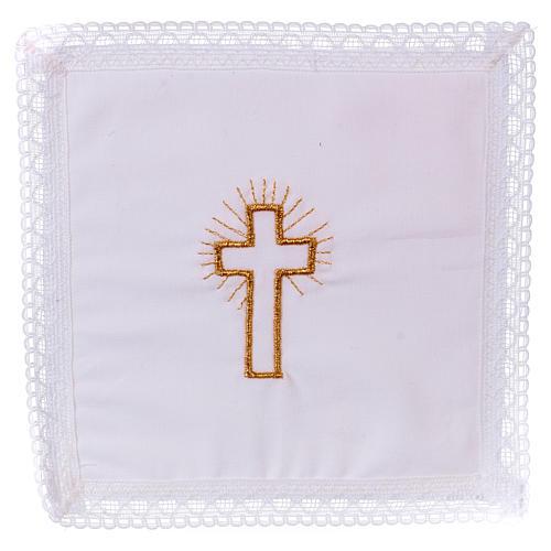 Pale croix dorée sur tissu 100% coton 1