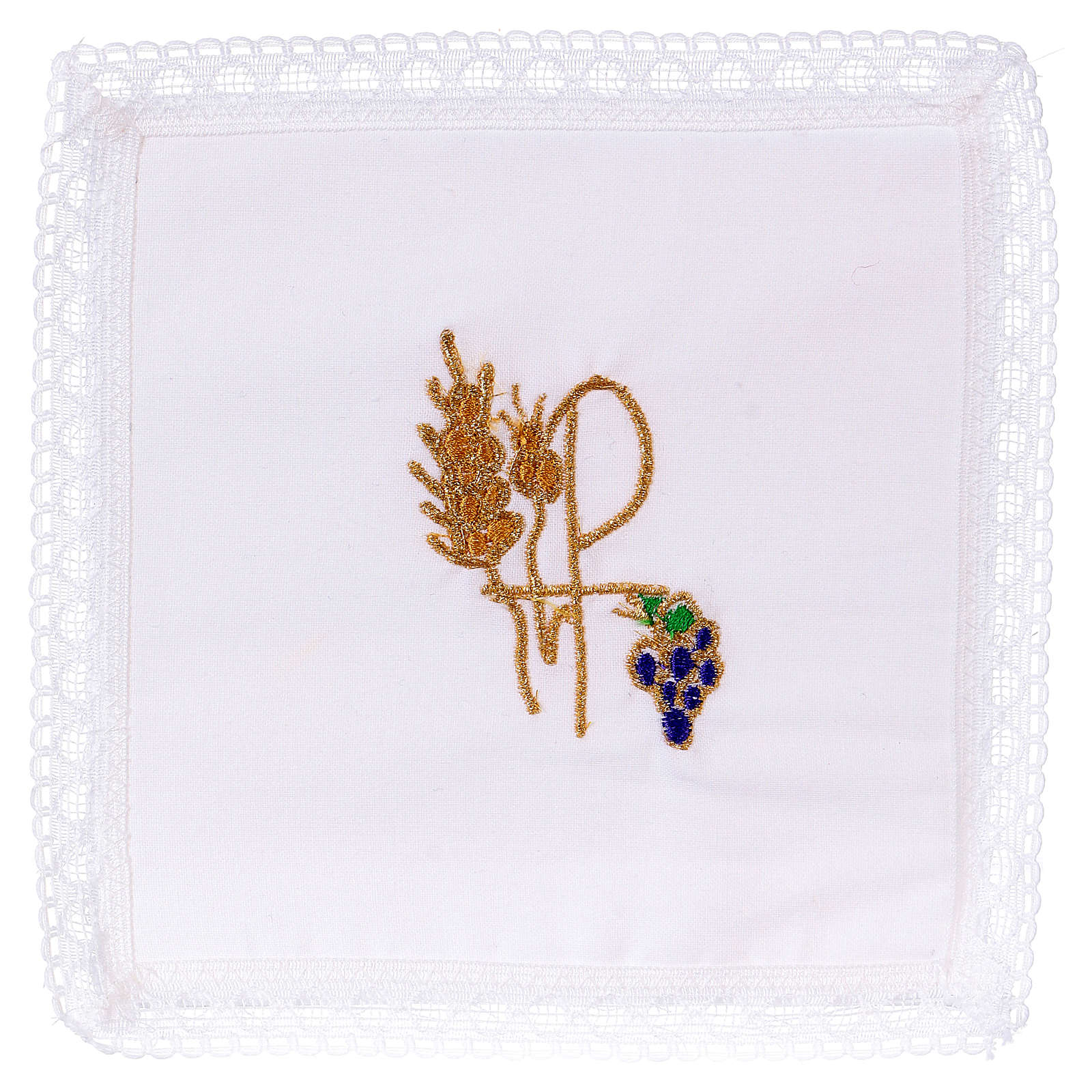 Chalice veil (pall) with Xp symbol 100% cotton 4