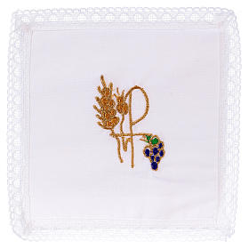 Chalice veil (pall) with Xp symbol 100% cotton s1