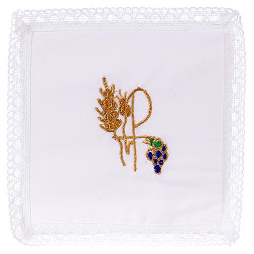Chalice veil (pall) with Xp symbol 100% cotton 1