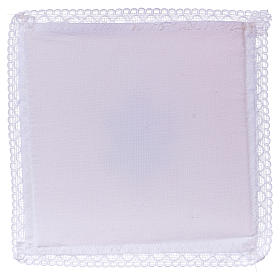 Chalice veil (pall) with IHS symbol 100% cotton s2