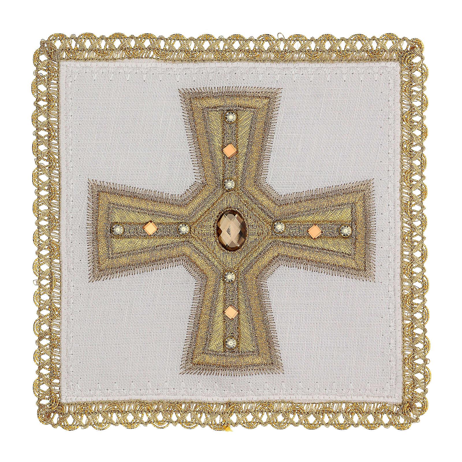 Linge d'autel 4 pcs 100% LIN broderies décorations or applications Édition Limitée 4