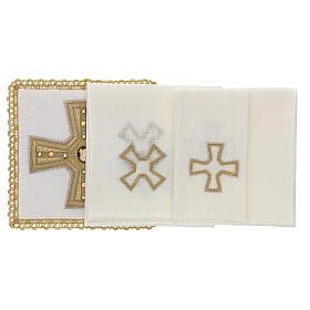 Linge d'autel 4 pcs 100% LIN broderies décorations or applications Édition Limitée s2