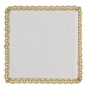 Linge d'autel 4 pcs 100% LIN broderies décorations or applications Édition Limitée s4