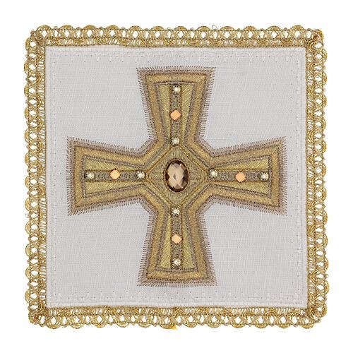 Linge d'autel 4 pcs 100% LIN broderies décorations or applications Édition Limitée 1