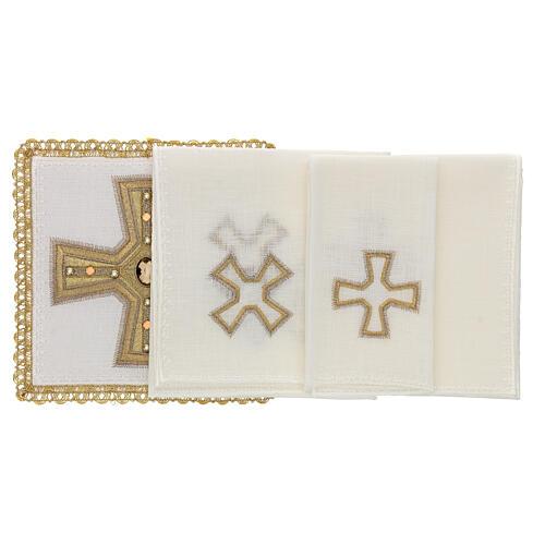Linge d'autel 4 pcs 100% LIN broderies décorations or applications Édition Limitée 2