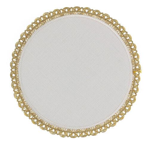 Servicio misa 4 piezas 100% HILO redondo bordados motivos oro Limited Edition 4