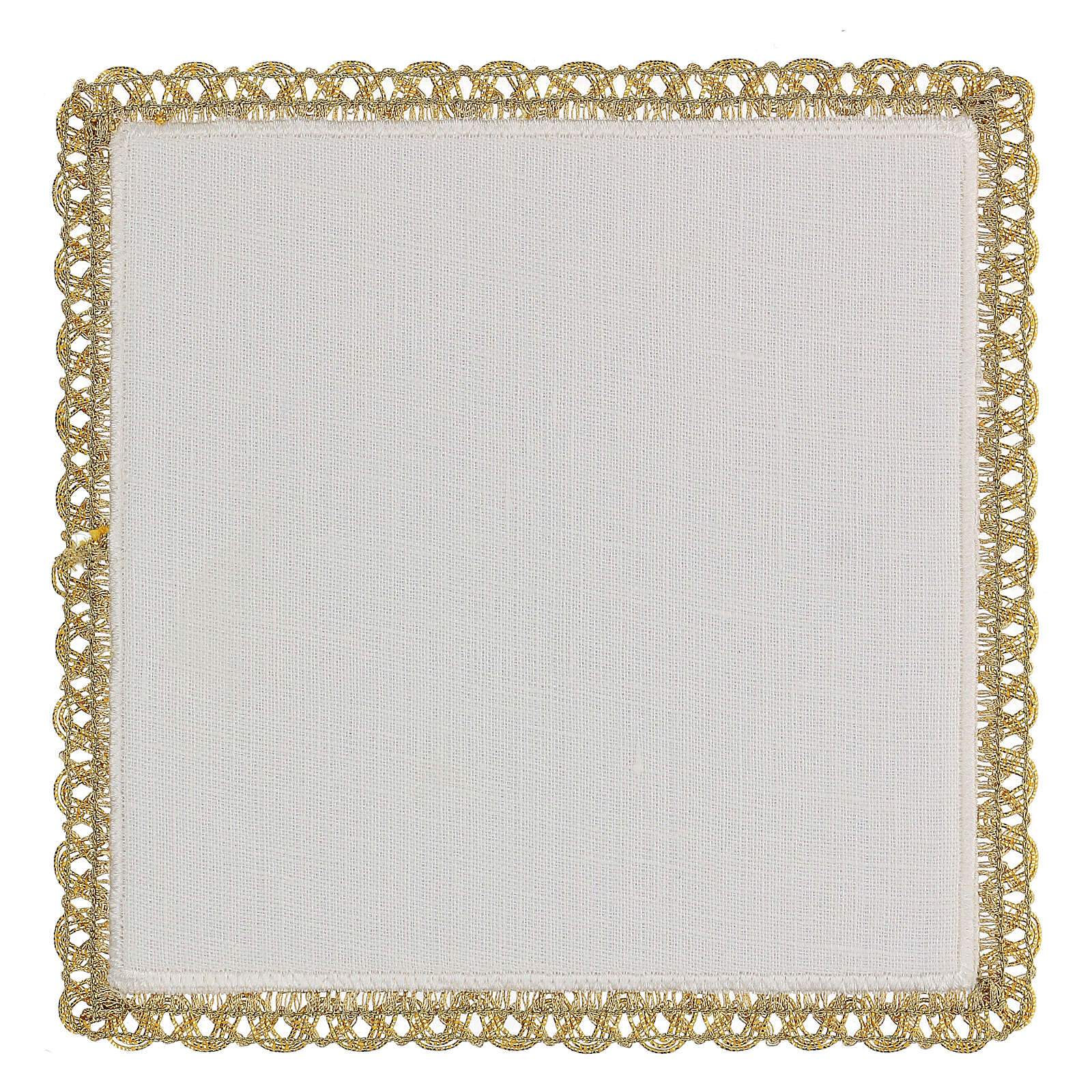 Servicio misa 4 piezas 100% HILO motivos oro rojos Limited Edition 4