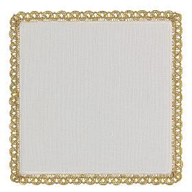 Linge autel 4 pcs 100% LIN décorations or rouge Édition Limitée s4