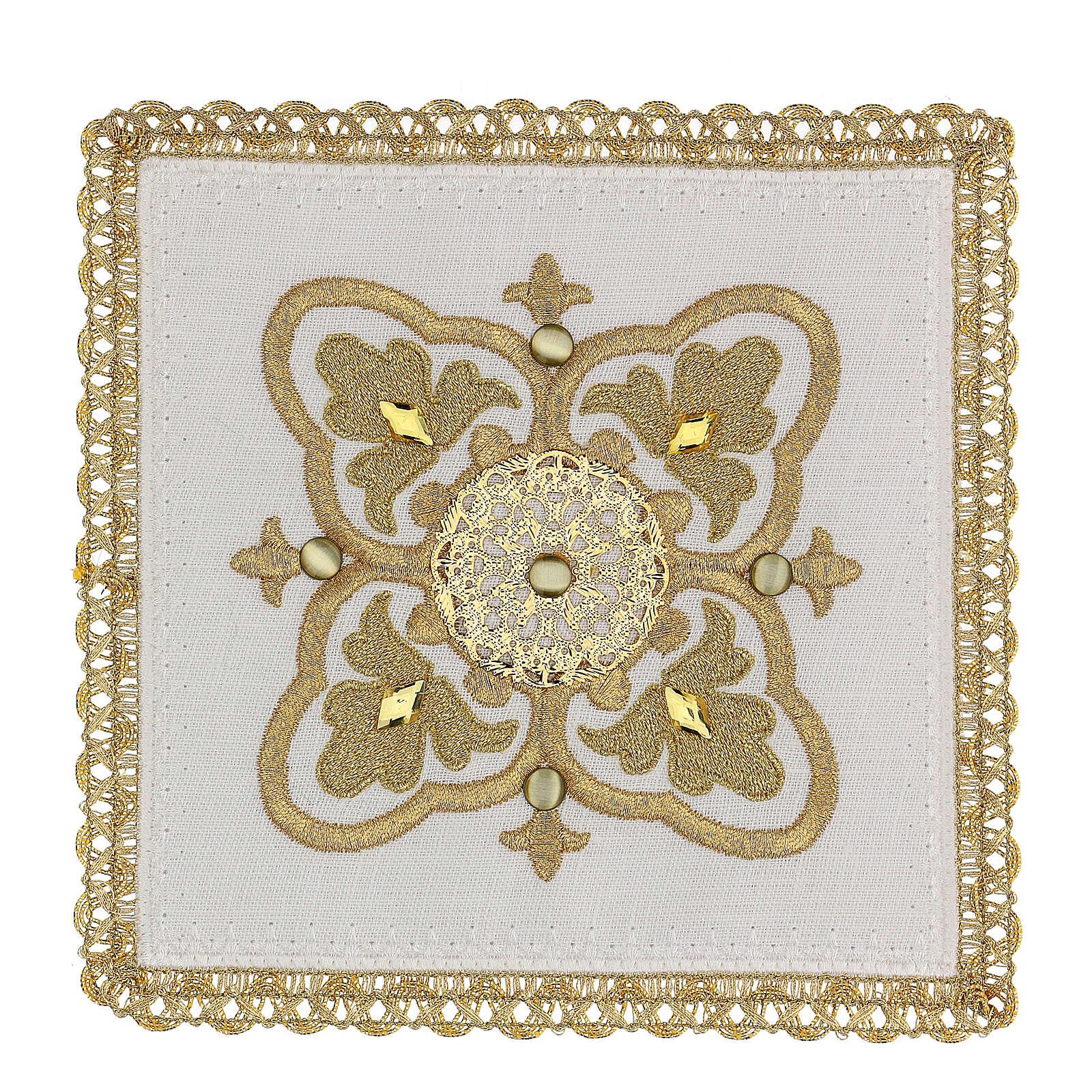 Servizio messa 4 pz. 100% lino decori oro Limited Edition 4