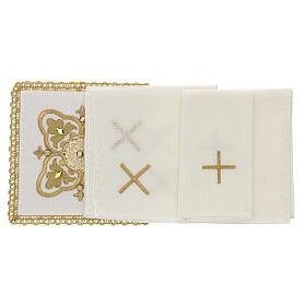 Servizio messa 4 pz. 100% lino decori oro Limited Edition s2