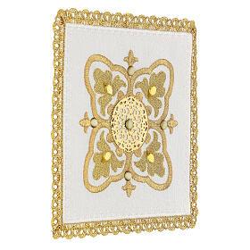 Servizio messa 4 pz. 100% lino decori oro Limited Edition s3