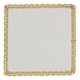 Servizio messa 4 pz. 100% lino decori oro Limited Edition s4