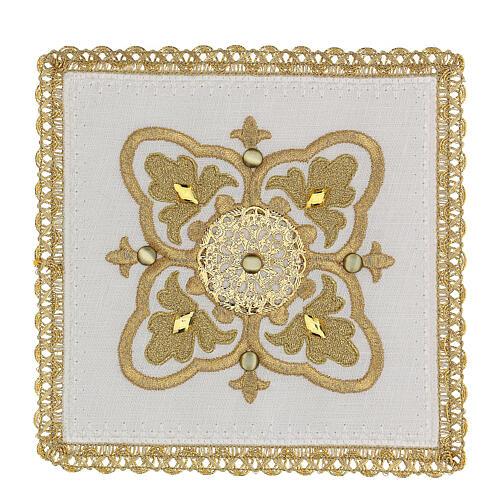 Servizio messa 4 pz. 100% lino decori oro Limited Edition 1