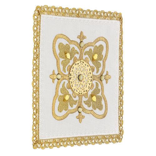 Servizio messa 4 pz. 100% lino decori oro Limited Edition 3