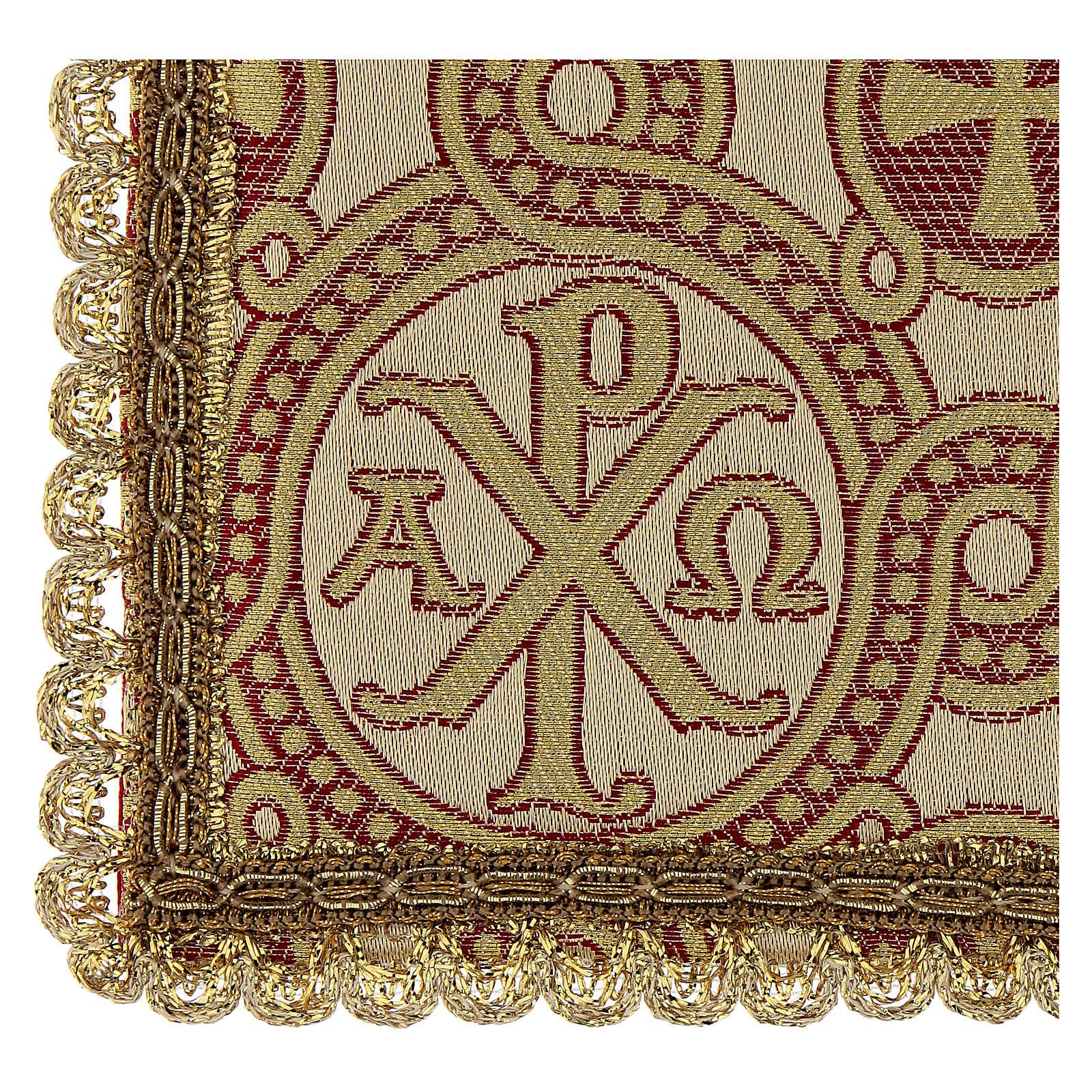 Pale pour calice en tissu brocart 4