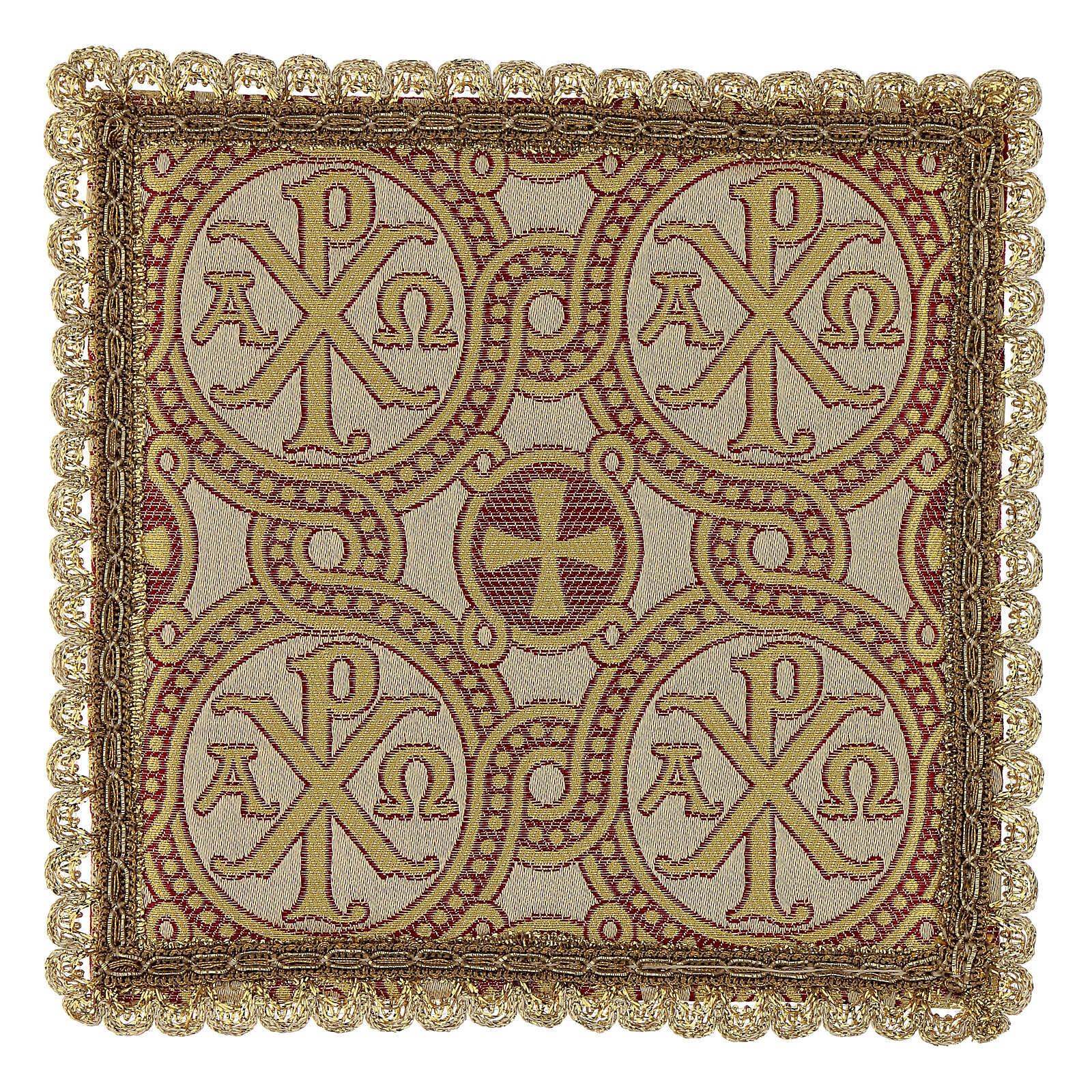 Pall for chalice in brocade fabric 4