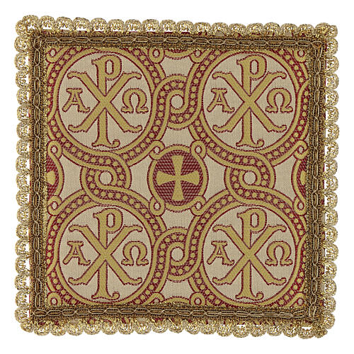 Pall for chalice in brocade fabric 1