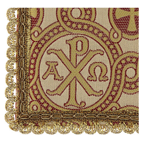 Pall for chalice in brocade fabric 3